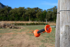 Electric fence coupling Stock Image