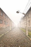 Electric fence in former Nazi camp Stock Images