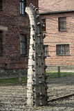 Electric fence in former Nazi concentration camp Auschwitz I, Stock Photos