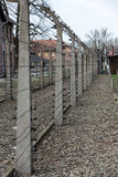 Electric fence in former Nazi concentration camp Auschwitz I Stock Images