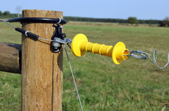 Electric fence gate Stock Photography