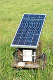 Electric Fence with Solar Panel Royalty Free Stock Photo