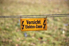 Electric fence Royalty Free Stock Photo