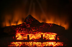 Electric fireplace Royalty Free Stock Images