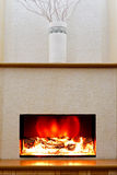 Electric fireplace Stock Photos