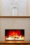 Electric fireplace Stock Photos