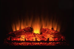 Electric fireplace Stock Photo