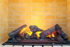 Electric fireplace Stock Photography