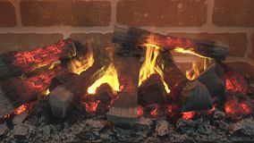 An electric fireplace Royalty Free Stock Photo
