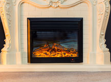 Electric fireplace Stock Image