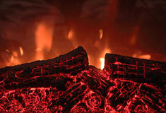 Electric fireplace Stock Images