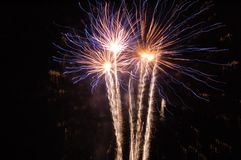 Electric Fireworks royalty free stock photography