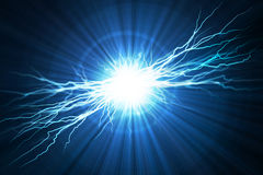 Electric  flash of lightning Stock Photos