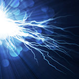 Electric  flash of lightning Royalty Free Stock Images