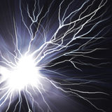 Electric Flash Of Lightning On A Dark Stock Images