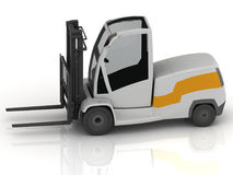Electric Forklift isolated Royalty Free Stock Image