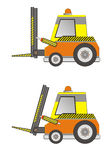 Electric forklift truck  isolated Royalty Free Stock Image