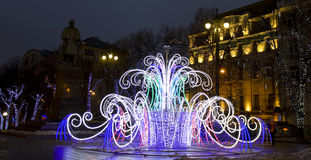 Electric fountain, Moscow Royalty Free Stock Photography
