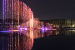Electric fountain musical, okada, manila, night, illuminated Stock Image