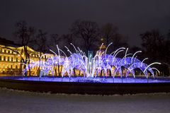 Electric fountain, St. Petersburg Stock Photo