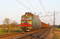 Electric freight train Royalty Free Stock Photography