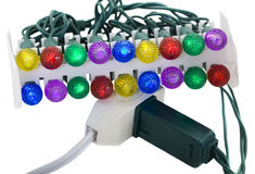 Electric garland and Power Set Stock Photos