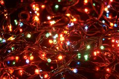 Electric garlands Stock Photo
