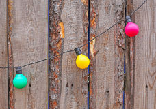 Electric garlands Royalty Free Stock Images