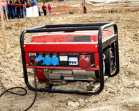 Electric generator. Generator for electric power supplies Stock Photography