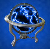 Electric Globe. A lightning ball shped as a spinning globe Stock Images