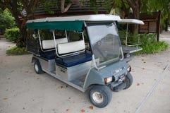 Electric golf car at Maldives Stock Photos
