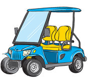 Electric golf cart Royalty Free Stock Image