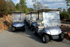 Electric Golf Carts Royalty Free Stock Image