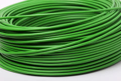 Electric green cables. Close up of electric green cables royalty free stock photography