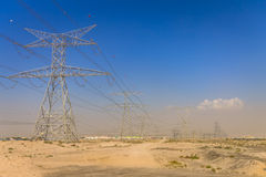 Free Electric Grid Lines In Desert. Electric Transmission Lines In The Desert Stock Image - 97674401
