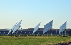 Electric grid solar Stock Photo