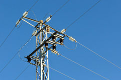 Electric grid tower Stock Photos