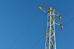 Electric grid tower Royalty Free Stock Images