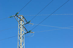 Electric grid tower Royalty Free Stock Photography