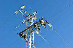 Electric grid tower Royalty Free Stock Image
