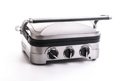 Electric Grill and Griddle on white Stock Photo