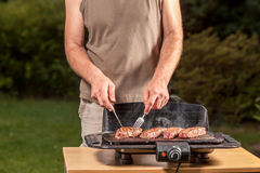 Electric Grill Stock Photo