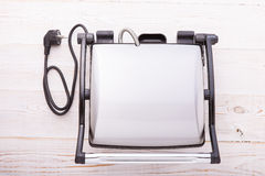 Electric Grill On Kitchen Wooden Table Royalty Free Stock Image