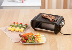 Electric grill stove Royalty Free Stock Photo
