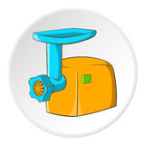 Electric grinder icon, cartoon style. Electric grinder icon. Cartoon illustration of electric grinder vector icon for web Stock Photos