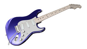Electric Guitar. Isolated Guitar on a white background Stock Images