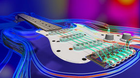 Electric Guitar. Guitar on a color background stock illustration