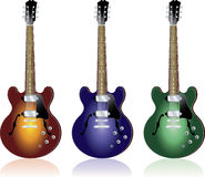 Electric Guitar. Vector illustration of fifties style electric guitars Stock Photos