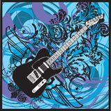 Electric guitar. Design Royalty Free Stock Images