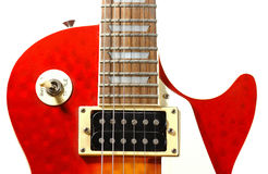 Electric guitar. Detail shot of an electric guitar (Gibson Les Paul stock photo
